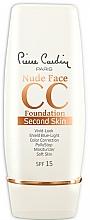 Parfumuri și produse cosmetice Krem CC do twarzy - Pierre Cardin Nude Face CC Foundation Second Skin SPF 15