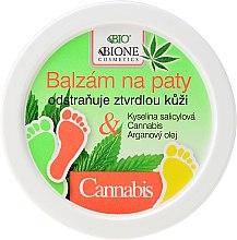 Parfumuri și produse cosmetice Balsam pentru picioare - Bione Cosmetics Cannabis Heel Balm Removes Hard Skin