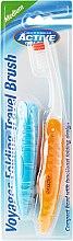 Духи, Парфюмерия, косметика Зубная щетка, для путешествия, оранжевая - Beauty Formulas Voyager Active Folding Dustproof Travel Toothbrush Medium