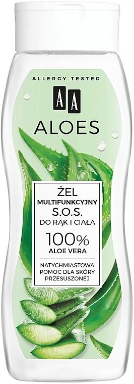 Gel multifuncțional pentru mâini și corp - AA Aloes 100% Aloe Vera Hand And Body SOS Gel