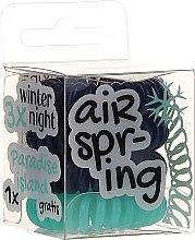 Parfumuri și produse cosmetice Elastice pentru păr albastru închis+ turcoaz, 4 buc - Hair Springs