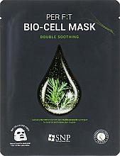 Parfumuri și produse cosmetice Mască de bioceluloză cu extract de arbore de ceai - SNP Double Synergy Soothing Bio-Cell Mask