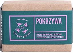 Parfumuri și produse cosmetice Săpun natural din urzică cu uleiuri esențiale de conifere - Cztery Szpaki With Coniferous Essential Oils