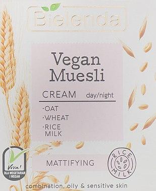 Cremă matifiantă pentru față - Bielenda Vegan Muesli Mattifying Day Night Cream