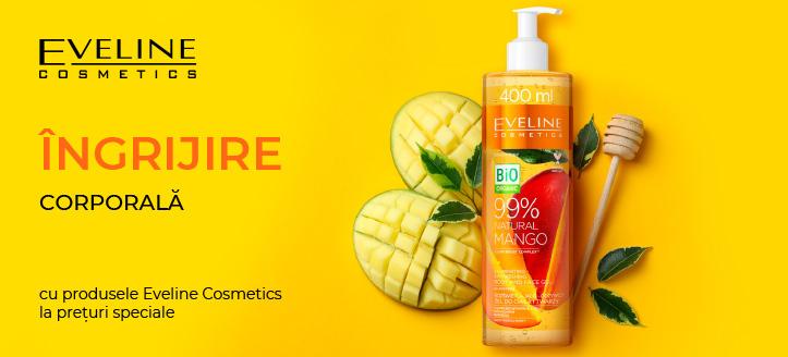 Reducere 5% la produsele promoționale Eveline Cosmetics. Prețurile pe site sunt prezentate cu reduceri