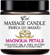Parfumuri și produse cosmetice Lumânare pentru masaj cu aromă de magnolie - VCee Massage Candle Magnolia Petals Coconut Oil & Shea Butter