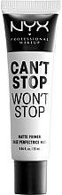Parfumuri și produse cosmetice Bază pentru machiaj cu efect matifiant - NYX Professional Makeup Cant Stop