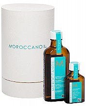 Parfumuri și produse cosmetice Set - MoroccanOil Home & Travel Duo Light (h/but/100ml+25ml)