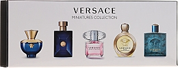 Parfumuri și produse cosmetice Versace Miniatures Collections - Set (edt/4x5ml + edp/1x5ml)