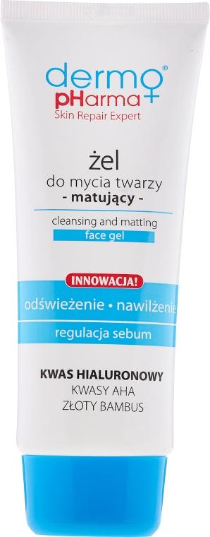 Gel de spălare - Dermo Pharma Cleansing And Matting Face Gel — Imagine N1