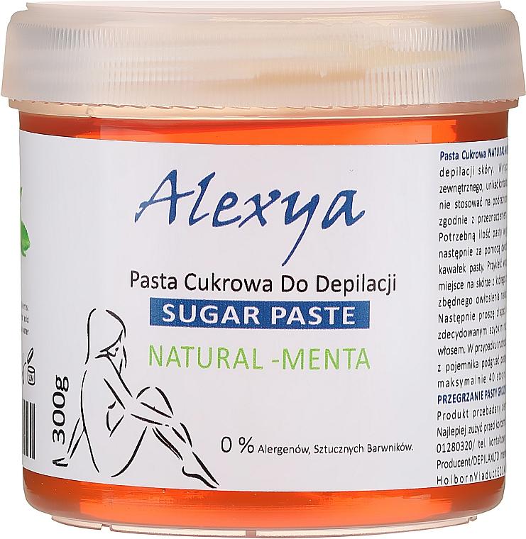 """Pastă pentru epilare cu zahăr """"Mentă"""" - Alexya Sugar Paste Natural Menta"""
