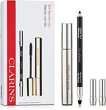 Parfumuri și produse cosmetice Set - Clarins Smokey Eyes (mascara/8ml+pencil/1,2g)