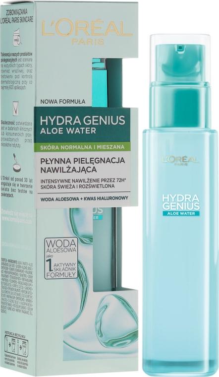 Fluid pentru pielea combinată și normală - L'Oreal Paris Hydra Genius Aloe Water