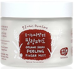 Parfumuri și produse cosmetice Discuri demachiante din bumbac - Whamisa Organic Seeds Peeling Finger Mitt Pore Care
