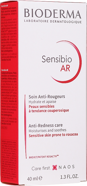 Cremă anti roșeață - Bioderma Sensibio AR Anti-Redness Cream