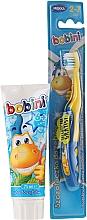 Parfumuri și produse cosmetice Set (periuță de dinți+pastă) - Bobini (t/brush + t/paste/75 ml)