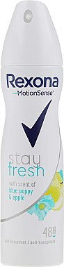 Deodorant spray - Rexona Blue Poppy & Apple Stay Fresh