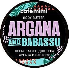 """Parfumuri și produse cosmetice Cremă-unt pentru corp """"Argan și Babassu"""" - Cafe Mimi Body Butter Argana And Babassu"""