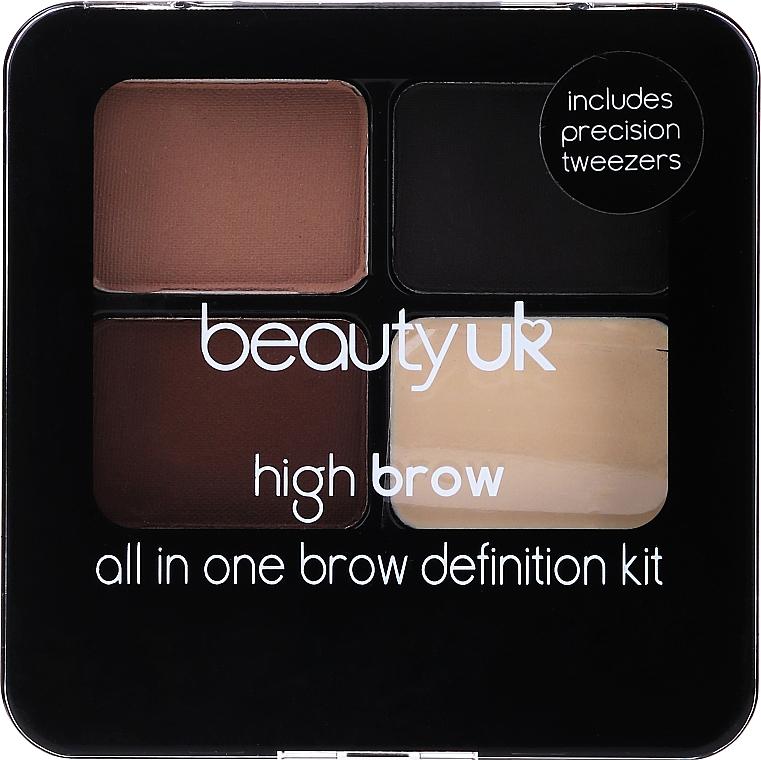 Set pentru sprâncene - Beauty UK High Brow and Eyebrow Kit