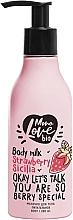 """Parfumuri și produse cosmetice Lapte nutritiv """"Căpșună"""" pentru corp - MonoLove Bio Strawberry Sicilia Body Milk"""