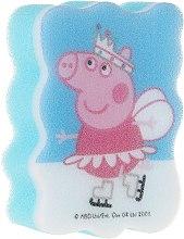 """Parfumuri și produse cosmetice Burete de baie pentru copii """"Peppa Pig"""", Peppa pe patine - Suavipiel Peppa Pig Bath Sponge"""