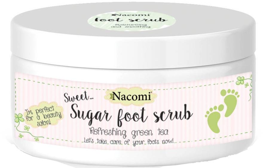Сахарный пилинг для ног с зеленым чаем - Nacomi Sugar Foot Peeling