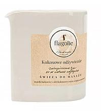 """Parfumuri și produse cosmetice Lumânare pentru masaj """"Cocos nutritiv"""" - Flagolie Coconut Nutrition Massage Candle"""