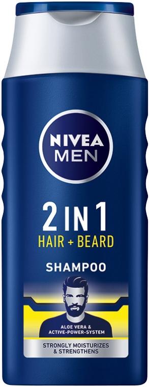 Шампунь 2 в 1 для волос и бороды - NIVEA Men 2 in 1 Protect & Care Shampoo