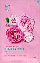 Parfumuri și produse cosmetice Mască folie hidratantă cu ulei de trandafiri Damasc - Holika Holika Pure Essence Mask Sheet Damask Rose
