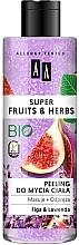 """Parfumuri și produse cosmetice Peeling pentru corp """"Smochine și lavandă"""" - AA Super Fruits & Herbs"""
