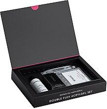 Parfumuri și produse cosmetice Set - Semilac Set Double Flex Acrylgel Set Clear (nail/gel/60ml + tips/120pcs + gel/liquid/125ml + acc.)