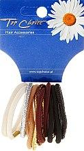 Parfumuri și produse cosmetice Elastice de păr, 12 buc., multicolore - Top Choice