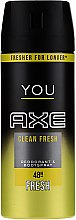 Parfumuri și produse cosmetice Deodorant-spray - Axe You Clean Fresh Deodorant Spray