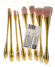Parfumuri și produse cosmetice Set pensule profesionale pentru machiaj, 8 buc., roz+auriu - Tools For Beauty