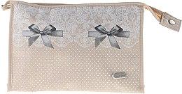 """Parfumuri și produse cosmetice Trusă cosmetică """"Lace-Bow"""", 96082, bej - Top Choice"""