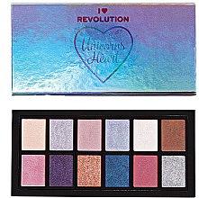Parfumuri și produse cosmetice Paletă de farduri de pleoape - Makeup Revolution Unicorns Heart Eyeshadow Palette