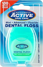 Parfumuri și produse cosmetice Ață Dentară cu Fluorura și Mentă - Beauty Formulas Active Oral Care Dental Floss Mint Waxed + Fluor 100m