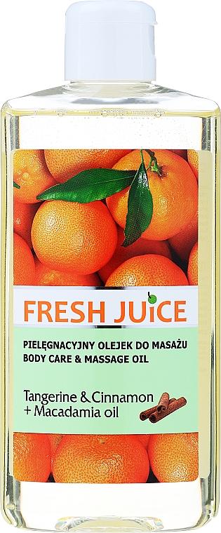 """Ulei pentru îngrijire și masaj """"Mandarină și scorțișoară + Ulei de macadamia"""" - Fresh Juice Energy Tangerine&Cinnamon+Macadamia Oil"""