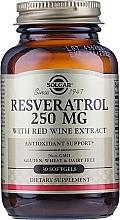 "Parfumuri și produse cosmetice Supliment alimentar ""Resveratrol"" - Solgar Resveratrol 250 Mg"