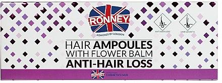 Fiole împotriva căderii părului - Ronney Professional Hair Ampoules With Flower Balm Anti-Hair Loss — Imagine N2