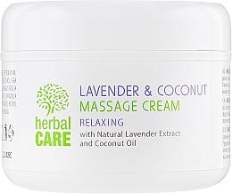 Массажный крем с релаксирующим эффектом - Bulgarian Rose Herbal Care Lavender & Cococnut Massage Cream — фото N2