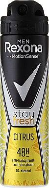 "Deodorant-spray ""Citrice"" - Rexona Men Stay Fresh Citrus Deodorant Spray"