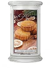 Parfumuri și produse cosmetice Lumânare parfumată, în borcan - Kringle Candle Cardamom Gingerbread