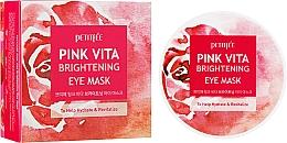 Parfumuri și produse cosmetice Patch-uri pe bază de esență de apă de trandafir - Petitfee & Koelf Pink Vita Brightening Eye Mask