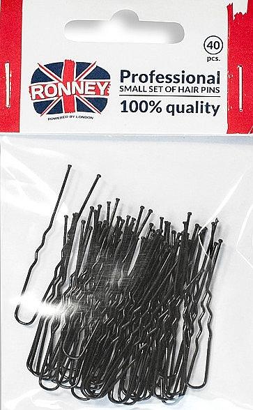 Agrafe-ace de păr, negre - Ronney Professional
