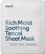 Parfumuri și produse cosmetice Mască hidratantă din bumbac - Klairs Rich Moist Soothing Tencel Sheet Mask