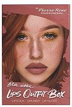 Parfumuri și produse cosmetice Set pentru machiajul buzelor - Pierre Rene Lips Outfit Box No. 03 @Im.Nikki (lipstick/3g + lip/pensil/0.4g + lip/gloss/6ml)