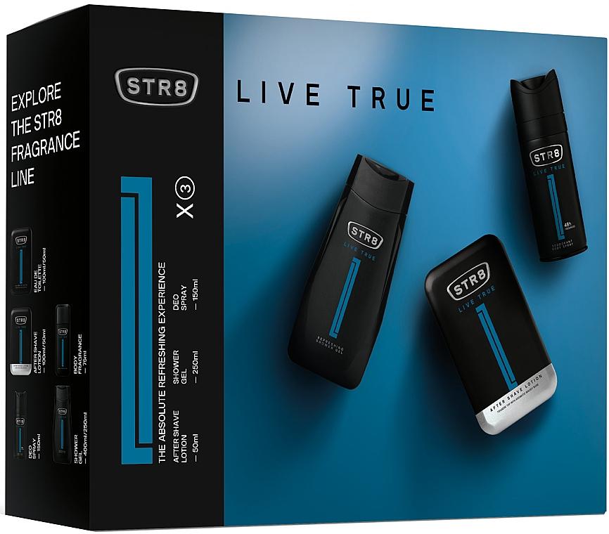STR8 Live True - Set (ash/lot/50ml+deo/spray/150ml+sh/gel/250ml) — Imagine N1
