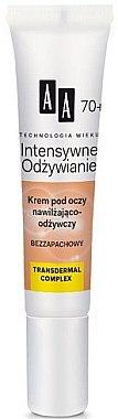 Cremă hidratantă pentru pielea din jurul ochilor - AA Cosmetics Age Technology Intensive Nourishing Eye Cream 70+ — Imagine N1