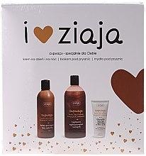 Parfumuri și produse cosmetice Set - Ziaja Cupuacu (sh/gel/500ml + b/balm/300ml + cr/50ml)